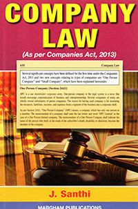 Company law (As per Companies Act, 2013) - J. Santhi